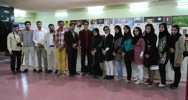بازدید اعضای انجمن عکاسی شهرستان خنج از سومین نمایشگاه بزرگ قرآن کریم خنج